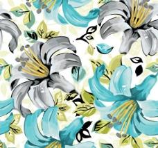 古典花卉花纹背景图片