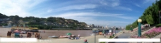 白塔山下黄河两岸图片