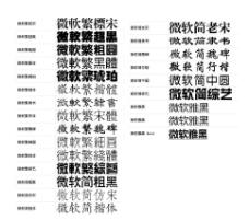 微软字体29种
