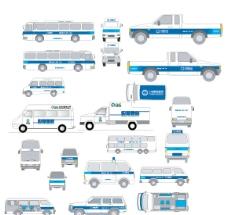 车辆广告VI模板图片
