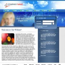 欧美蓝色网站模板图片