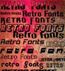 retoro字体素材47款