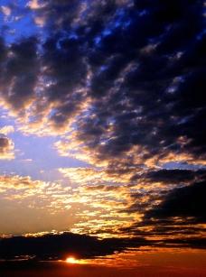 夕阳晚霞图片