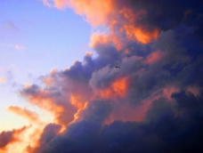 晚霞云朵图片