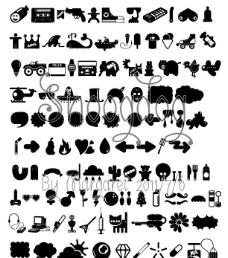 稀有的小动物图案字体OT TT EPS