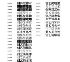 创艺字体25种打包