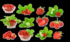 花样草莓素材图片