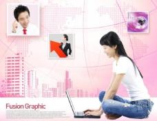 粉色商务图片