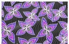 几何花卉图片