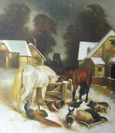 动物风格油画图片