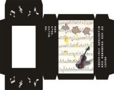 小提琴包装纸图片
