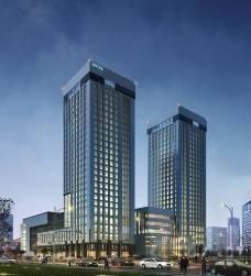 商业建筑夜景效果图图片