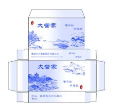 酒店纸巾包装盒分层图片
