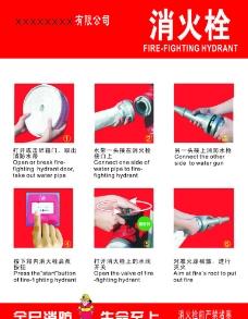 消火栓使用示范说明图片