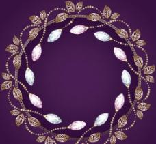 古典金色花纹图片