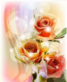 动感梦幻玫瑰花背景图片