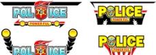警察警徽华丽标题图片