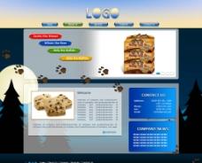 欧美儿童食品公司网站模板图片