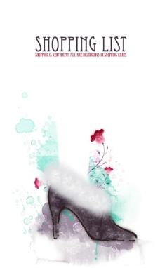 韩国水墨女皮鞋商场海报图片