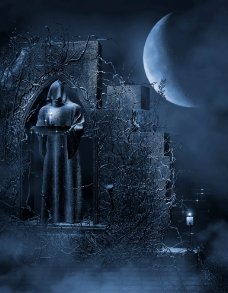 哥特风格月夜图片