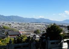 鸟瞰古城图片