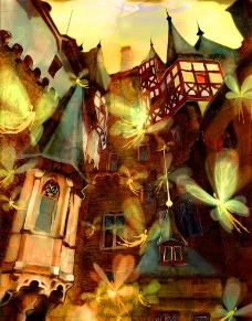 城堡里的飞舞的精灵图片