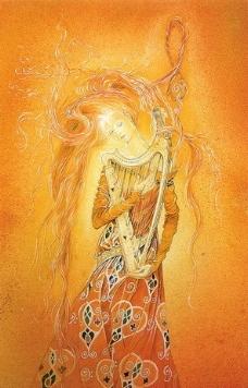 竖琴仙女图片