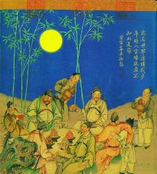 古代人物宴会图图片