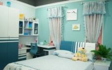儿童房 蓝色 可爱图片