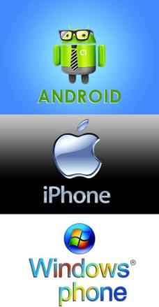 标识 安卓 苹果 windows phine图片