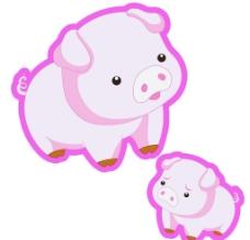 可爱小粉猪图片