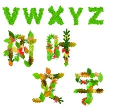树叶文字图片