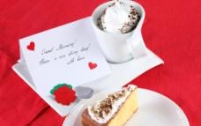 奶油面包 咖啡图片