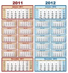 2011-2012日历