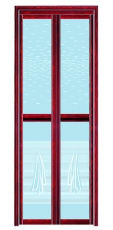 红木铝合金折叠门图片