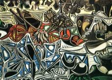 毕加索油画图片