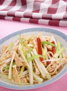 韭黄炒豆干图片