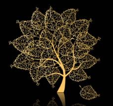 金色的树图片