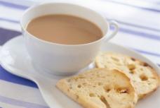 面包片 奶茶图片