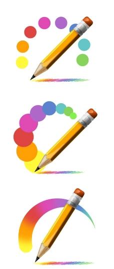 色彩铅笔素材图片