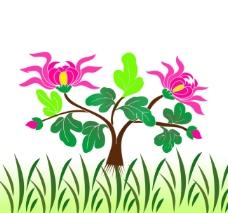 莲花矢量图