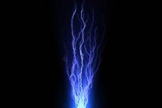 蓝色电光图片