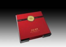 红色国饼礼盒图片