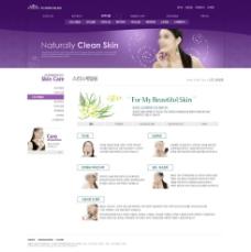 紫色网页模板图片