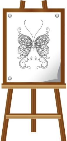 木质画架图片