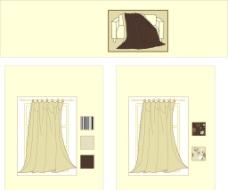 窗帘沙发矢量设计图片