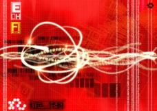 红色代码科技背景图片
