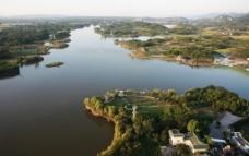 航拍龙水湖图片