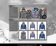 欧美moncler 羽绒服首页效果图图片