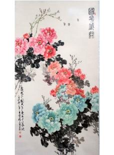 國花盛開圖片
